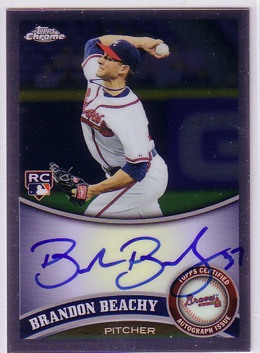 Photo of 2011 Topps Chrome Rookie Autographs #176 Brandon Beachy