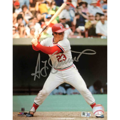 Photo of Cardinals Authentics: Ted Simmons Autographed Batting Photo
