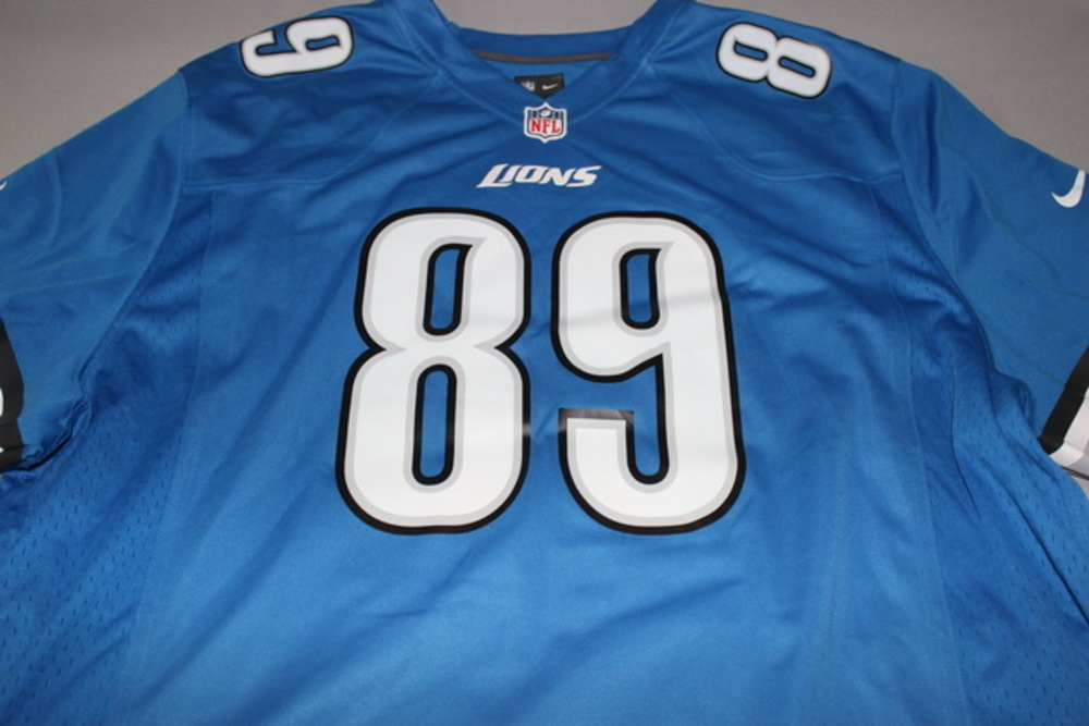 size 40 3536e e4ea8 NFL Auction | LIONS - COLE WICK SIGNED LIONS REPLICA JERSEY ...