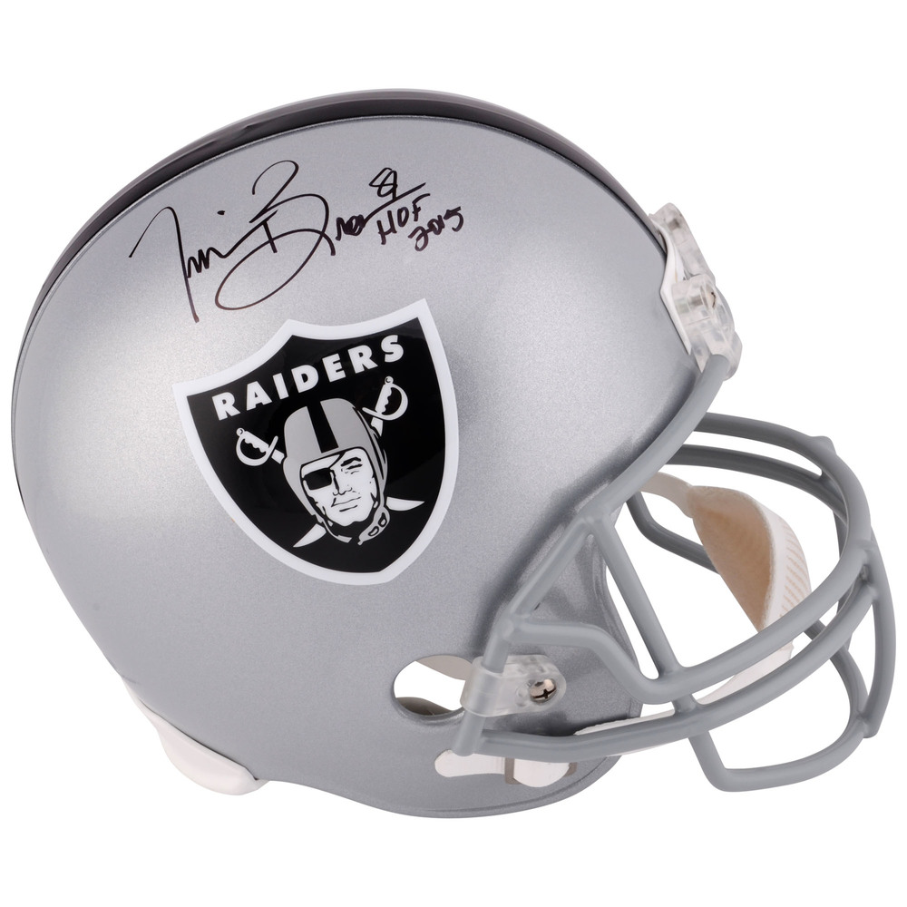 Tim Brown Oakland Raiders Autographed Replica Helmet with HOF 2015 Inscription
