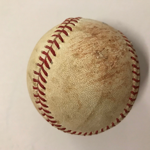 Photo of Mike Foltynewicz Game Used Pitched Baseball - June 25, 2018 - Batter: Scott Schebler, Ground Out
