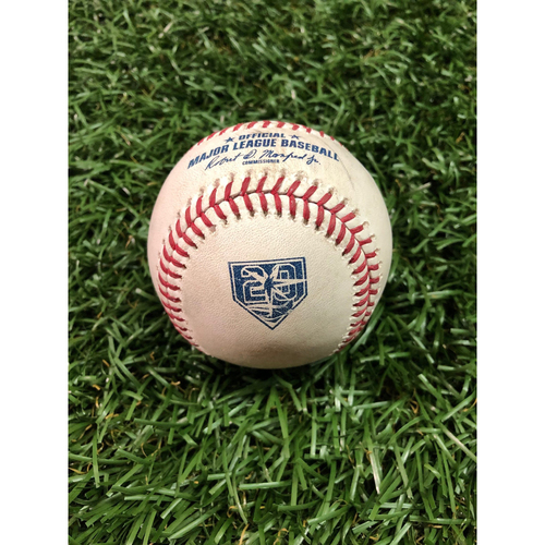 Photo of 20th Anniversary Game-Used Baseball: Gleyber Torres single off Austin Pruitt - September 27, 2018 v NYY