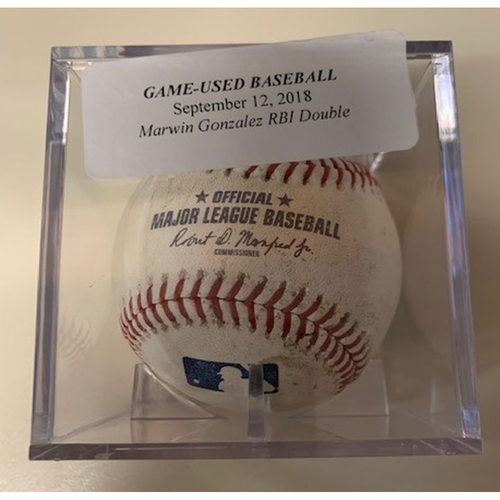 Photo of Game-Used Baseball: Marwin Gonzalez RBI Double