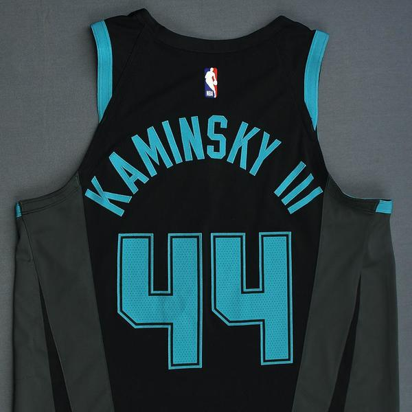 Frank Kaminsky - Charlotte Hornets - Game-Worn City Edition Jersey ...