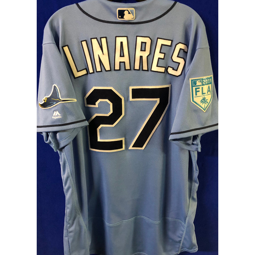 Photo of Game Used Spring Training Jersey: Rodney Linares - March 26, 2019 v DET