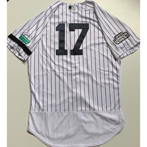 Photo of 2019 London Series - Game-Used Jersey - Aaron Boone, New York Yankees vs Boston Red Sox - 6/29/19