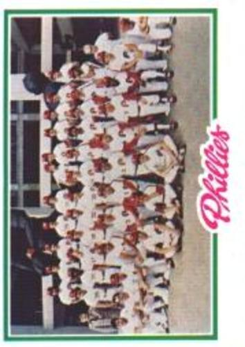 Photo of 1978 Topps #381 Philadelphia Phillies CL