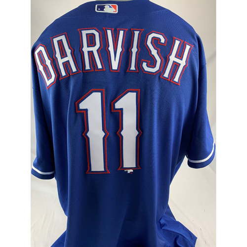 Photo of Team-Issued Blue Jersey - Yu Darvish
