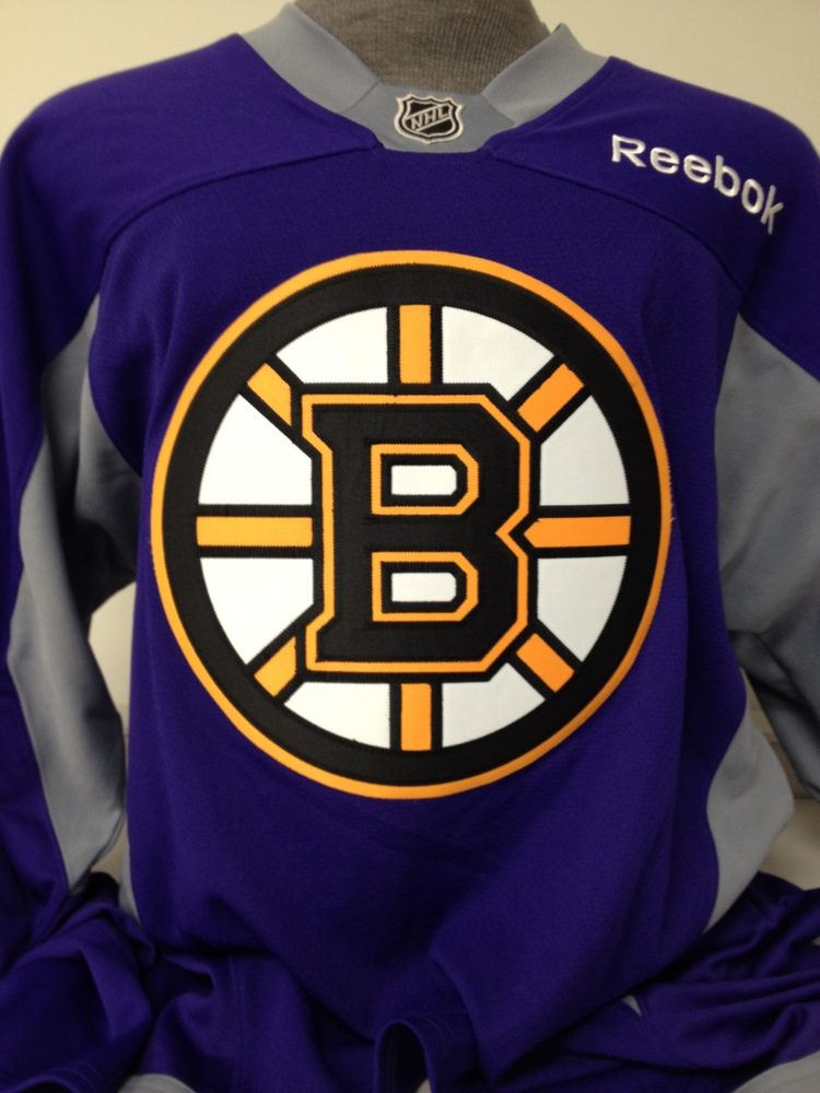 e5544b1c9  63 - Brad Marchand - Boston Bruins Hockey Fights Cancer Warmup Worn  Autographed Jersey
