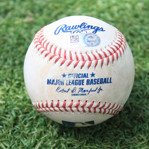 Photo of Game-Used Baseball: Wilson Contreras 404th Career Hit (CHC @ KC 8/6/20)