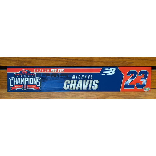 Photo of Michael Chavis Team Issued Locker Tag