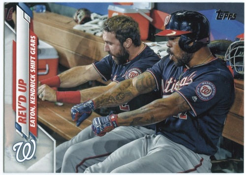 Photo of 2020 Topps #640 Rev'd Up/Adam Eaton/Howie Kendrick