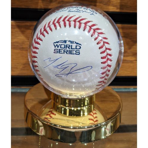 Photo of 2018 World Series Mookie Betts Autographed Baseball