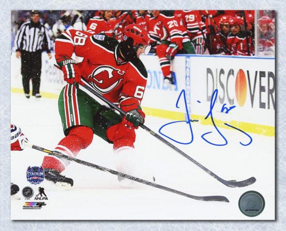 Jaromir Jagr New Jersey Devils Autographed 2014 Stadium Series 8x10 Photo
