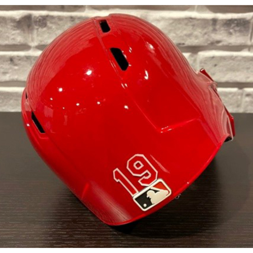 Photo of Joey Votto -- Team-Issued Helmet -- Right Ear Flap -- Size 7 3/8