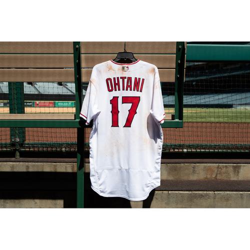 Shohei Ohtani Game Used Jersey - 7/2/21 vs. BAL (29th & 30th home run)