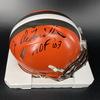 HOF - Browns Joe DeLamielleure Signed Mini Helmet