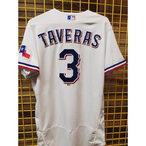 Photo of Leody Taveras Team-Issued White Jersey