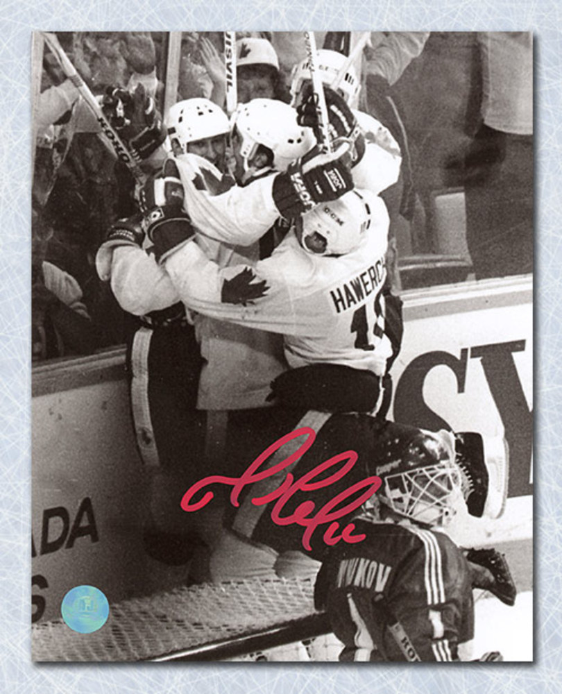 Mario Lemieux Team Canada Autographed 1987 Canada Cup Winning Goal 8x10 Photo *Pittsburgh Penguins*
