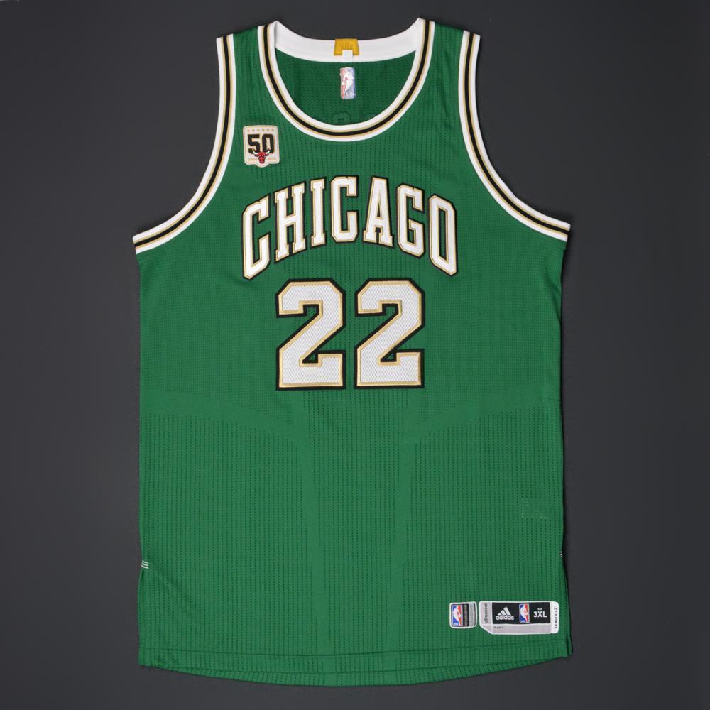 pretty nice 8bd45 7f568 Taj Gibson - Chicago Bulls - Game-Worn 'St. Patrick's Day ...