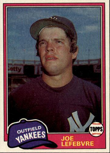 Photo of 1981 Topps #88 Joe Lefebvre RC