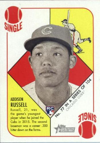 Photo of 2015 Topps Heritage '51 Collection #77 Addison Russell Rookie Card
