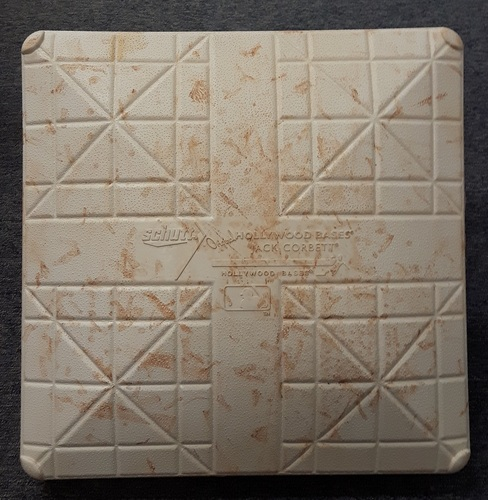 Photo of Authenticated Game Used Base - 2nd base for Innings 1-3 on May 26-28, 2017 vs TEX. Tulowitzki and Donaldson return from DL.
