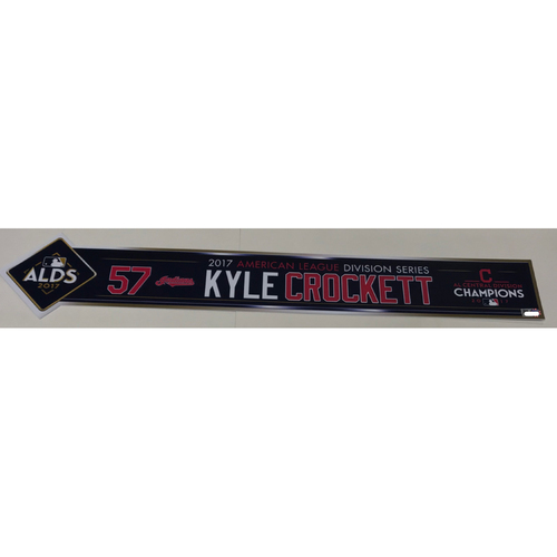 Photo of Kyle Crockett Team-Issued 2017 ALDS Locker Name Plate