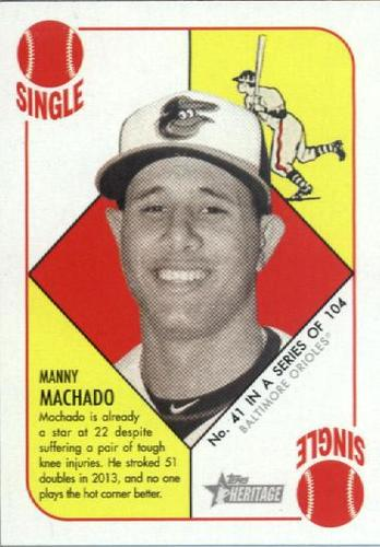 Photo of 2015 Topps Heritage '51 Collection #41 Manny Machado