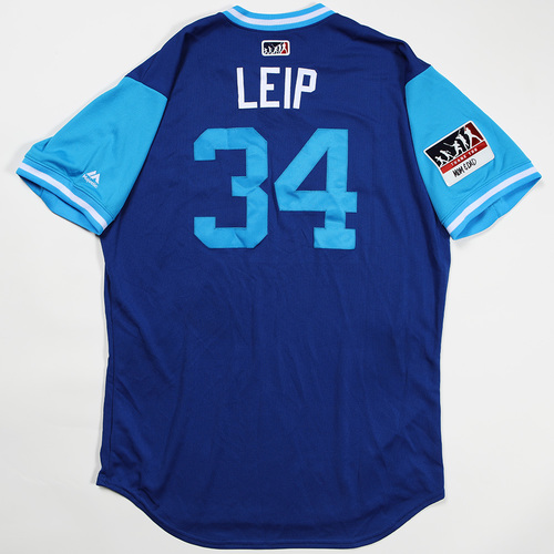 "Photo of Tim ""Leip"" Leiper Toronto Blue Jays Game-Used Jersey 2018 Players' Weekend Jersey"