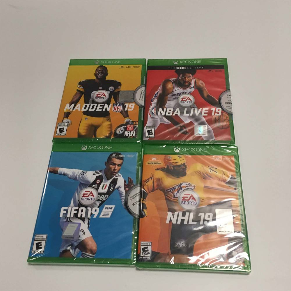 EA Sports Video Game Pack for XBOX One - Madden '19, NBA '19, FIFA '19, NHL '19