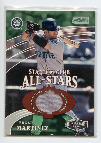 Photo of 2002 Stadium Club All-Star Relics  Edgar Martinez jersey
