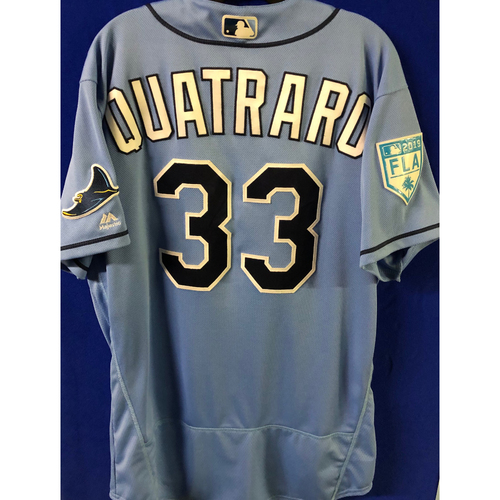 Photo of Game Used Spring Training Jersey: Matt Quatraro - March 26, 2019 v DET