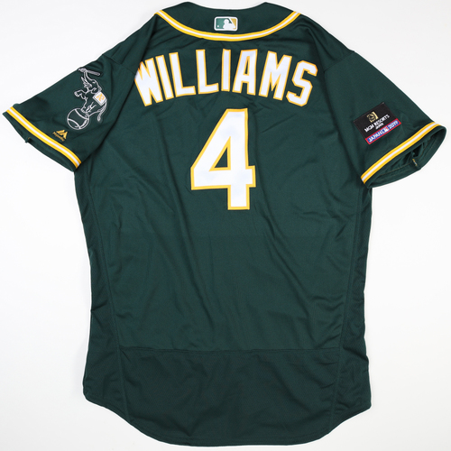 Photo of 2019 Japan Opening Day Series - Game Used Jersey - Matt Williams, Oakland Athletics at Nippon Ham Fighters -3/17/2019
