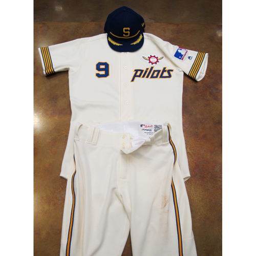 Photo of Seattle Mariners Game Used 1969 Pilots Home Uniform and Cap Turn Back The Clock (6/22/19): Dee Gordon