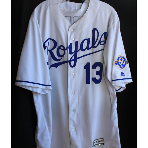 Photo of Game-Used Jersey: Salvador Perez (Size 48 - 9/15/18 - MIN @ KC)