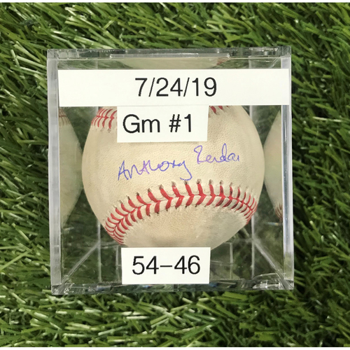 Photo of Win #54: 7/24/2019 Game 1 Game-Used Baseball - Autographed by Anthony Rendon