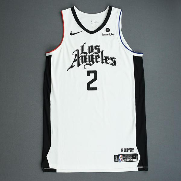 Image of Kawhi Leonard - Los Angeles Clippers - Christmas Day' 19 - Game-Worn City Edition Jersey - Worn 2 Games - Double-Double and Scored Game-High 35 Poi...