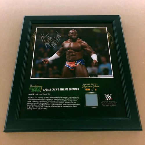 Photo of Apollo Crews SIGNED Money In The Bank 2016 Frame (3 of 5)