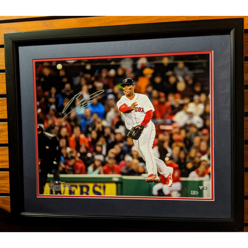 Rafael Devers Autographed Framed Photo
