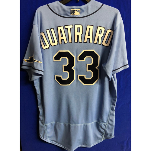 Photo of Team Issued Spring Training Jersey: Matt Quatraro - 2020