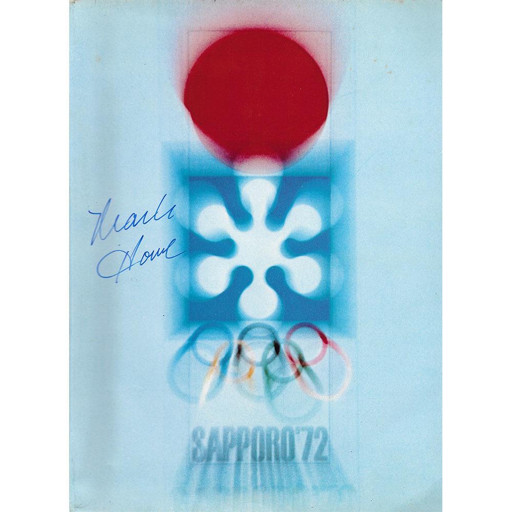 Mark Howe & Team USA 1972 Team-Signed Olympic Program - Sapporo Japan