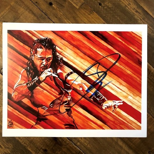 Photo of Shinsuke Nakamura SIGNED Rob Schamberger 11 x 14 Art Print (2021)