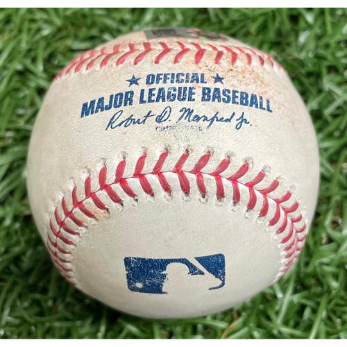 Photo of Game-Used Baseball: Adolis Garcia Single off Chris Mazza - Top 6 - April 14, 2021 v TEX