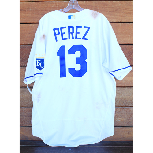 Photo of Game-Used Jersey: Salvador Perez #13 (HOU@KC 8/17/21) - Size 48