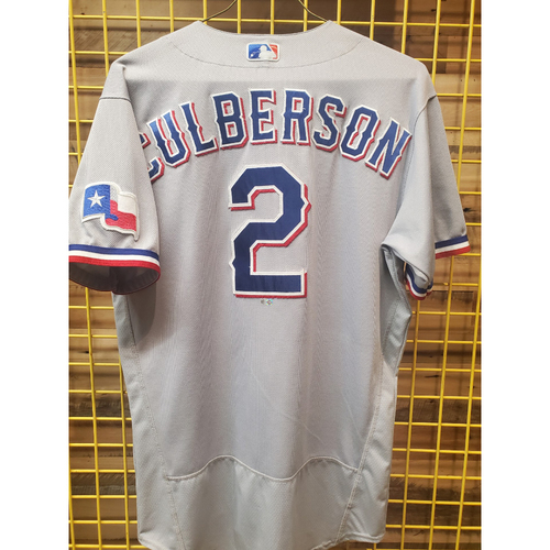 Photo of Charlie Culberson Game-Used Grey Jersey - Worn 9/20/2021 - Hit HR (5)