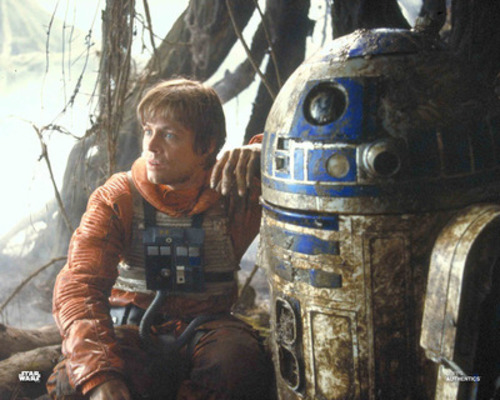 Luke Skywalker and R2-D2