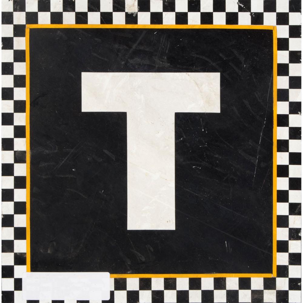 Daytona International Speedway Black with Checkerd Trim Letter T 12