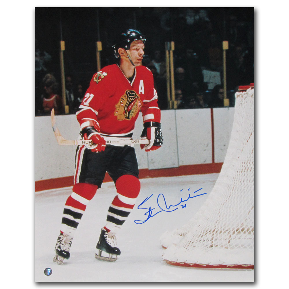 Stan Mikita Autographed Chicago Blackhawks 16X20 Photo