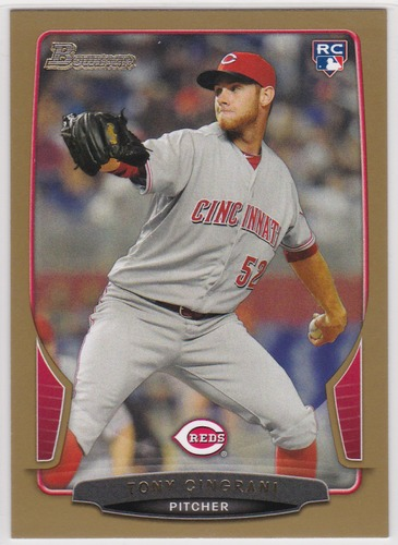 Photo of 2013 Bowman Gold #173 Tony Cingrani